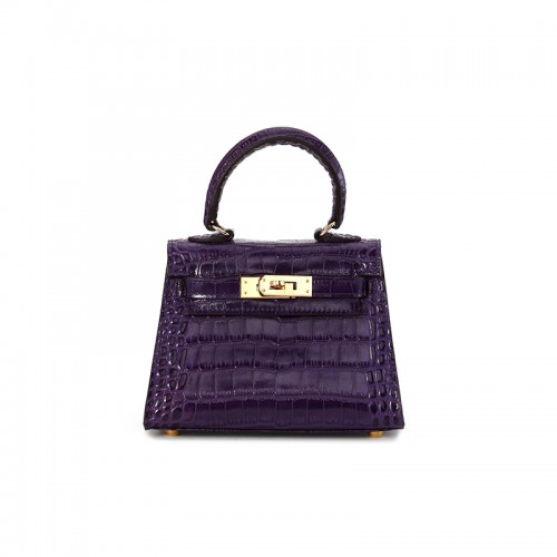 16CCKK Alligator Classic Dream Purple Gold Buckle