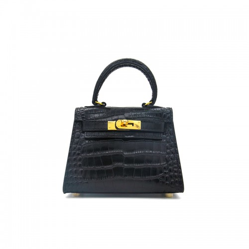 16CCKK Alligator Classic Black Gold Buckle