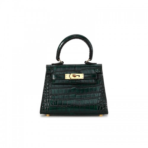 16CCKK Alligator Classic Emerald Gold Buckle