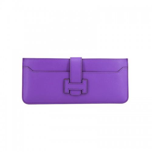 23TLOH Flat Grain Classic Dream Purple Multi-Compartment Wallet