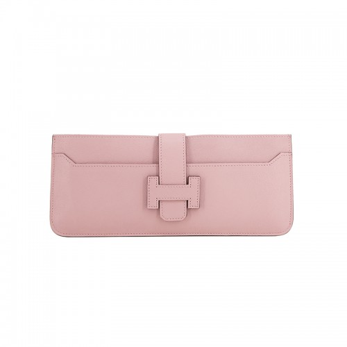 23TLOH Flat Grain Classic Baby Pink Multi-Compartment Wallet
