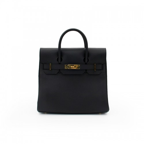 30CCSJ Flat Grain Classic Classic Black Gold Buckle Backpack