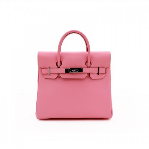 30CCSJ Flat Grain Classic Sakura Pink Silver Buckle Backpack