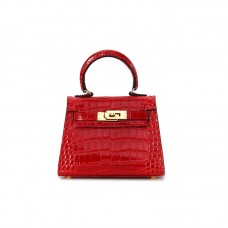 16CCKK Alligator Classic Chinese Red Gold Buckle